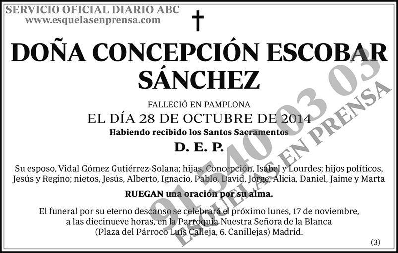 Concepción Escobar Sánchez